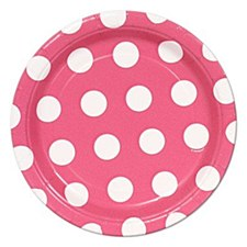 Hot Pink Dots 7IN Plate
