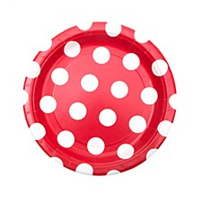 Ruby Red Dots 7IN Plate