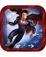 """7""""Superman Saves The Day Plates"""