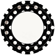 Midnight Black Dot 9IN Plate