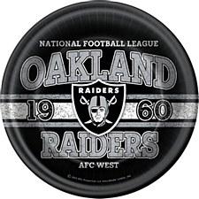"Oakland Raiders 9"" Plates"