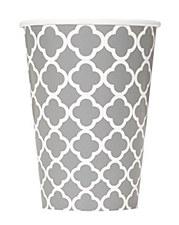 6-12oz Silver Quatrefoil Cups