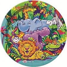"Smiling Safari 9""Plates"