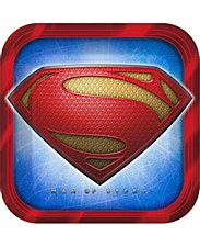 """9""""Superman Saves The Day Plates"""