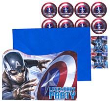 Captain America The Winter Soldier Invitations