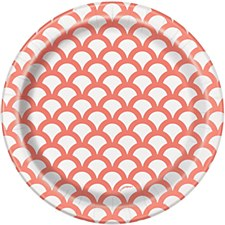 7IN Coral Scallop Plate