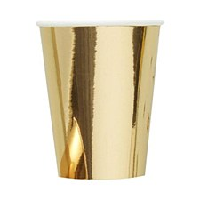 Gold 12oz. Cups