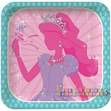 Princess Party Plates: 7""