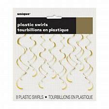 Gold Plastic Swirls