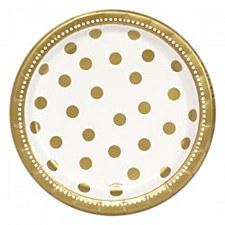 Golden Birthday 7in Plates