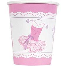 Pink Ballerina 9oz. Cups