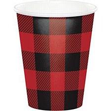 Plaid Lumber Jack Cups