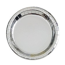 7in Foil Silver Round Plate