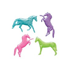 8 Pearlized Strechy Horses