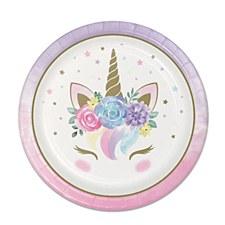 "Unicorn Baby 9""Plates"