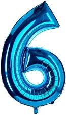 """34"""" Number 6 Blue"""