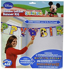 Mickey and the Roadster Racers Add- an- Age Jumbo Letter Banner Kit