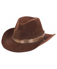 Cowboy Hat Flocked - Brown