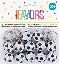 12 Soccer Ball Keychains
