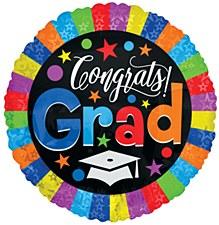 """18"""" Colorful Congrats Grad Balloon"""
