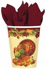 rustic turkey cups 9oz