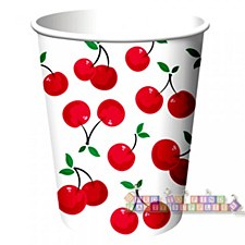 Cherry Gingham Cups