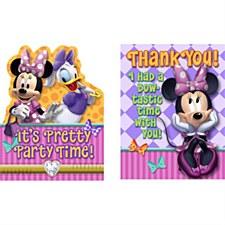 Minnie It's Pretty Party Time! Invitations