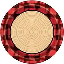 Plaid Lumber Jack 9IN Plate