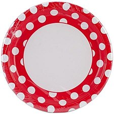 Ruby Red Dots 9IN Plates