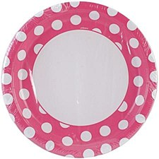Hot Pink Dots 9IN Plate