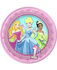 "Princesses Baby's 1st Birthday 7""Plates"