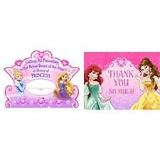 Disney Princess Invitations & Thank-You Cards