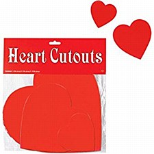 9 Heart Cutouts