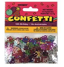 18th Birthday Foil Confetti 0.5 oz.