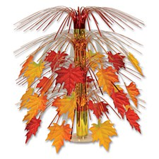Fabric Fall Leaves Centerpiece Beistle 90551