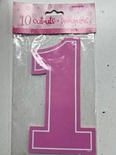 "10 ""1"" Pink Cutouts"