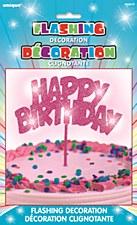 Happy Birthday Cake Decoration Pink