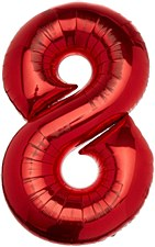 """34"""" Number 8 Red"""