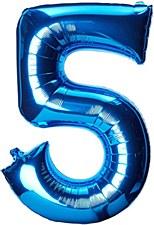 """33"""" Number 5 Blue"""