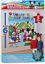 Mickey Mouse Scene Setters Wall Decorating Kit