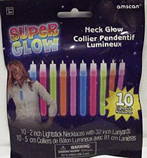 "2"" Glow Stick Necklace Value Pack - Assorted Colors, 10ct"