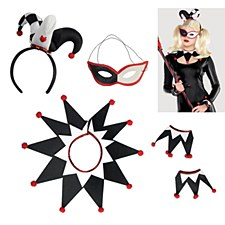 Red and Black Jester Accessory Set
