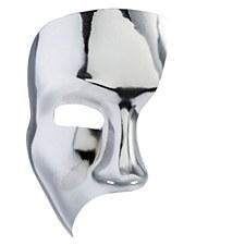 Silver Metallic Phantom Mask