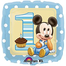 "18"" MICKY MOUSE 1ST BIRTHDAY"