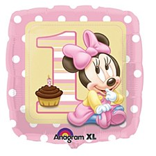 "18"" Minnie 1st Birthday Girl Balloon"