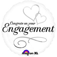 """18"""" Two Hearts Engagement"""