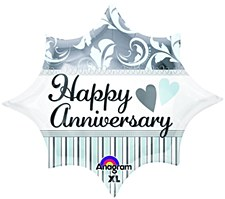 "18"" Elegant Happy Anniversary Burst"