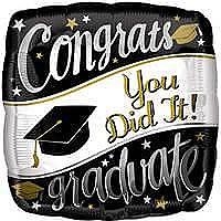 Congrats You Did It! Standard Balloon