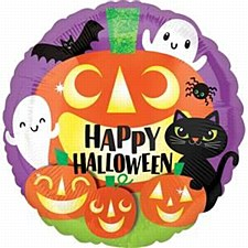 "18"" Happy Halloween Friends Mylar"