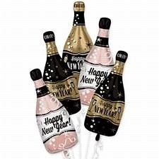 Happy New Year Bubbly Bottles